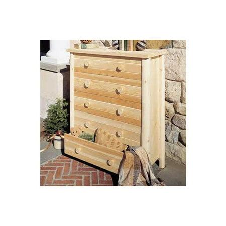 Rustic Natural Cedar Wheatfields Five Drawer Chest Furniture