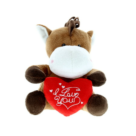 Super Soft Plush Dollibu Horse I Love You Valentines Plush - Valentine Animals