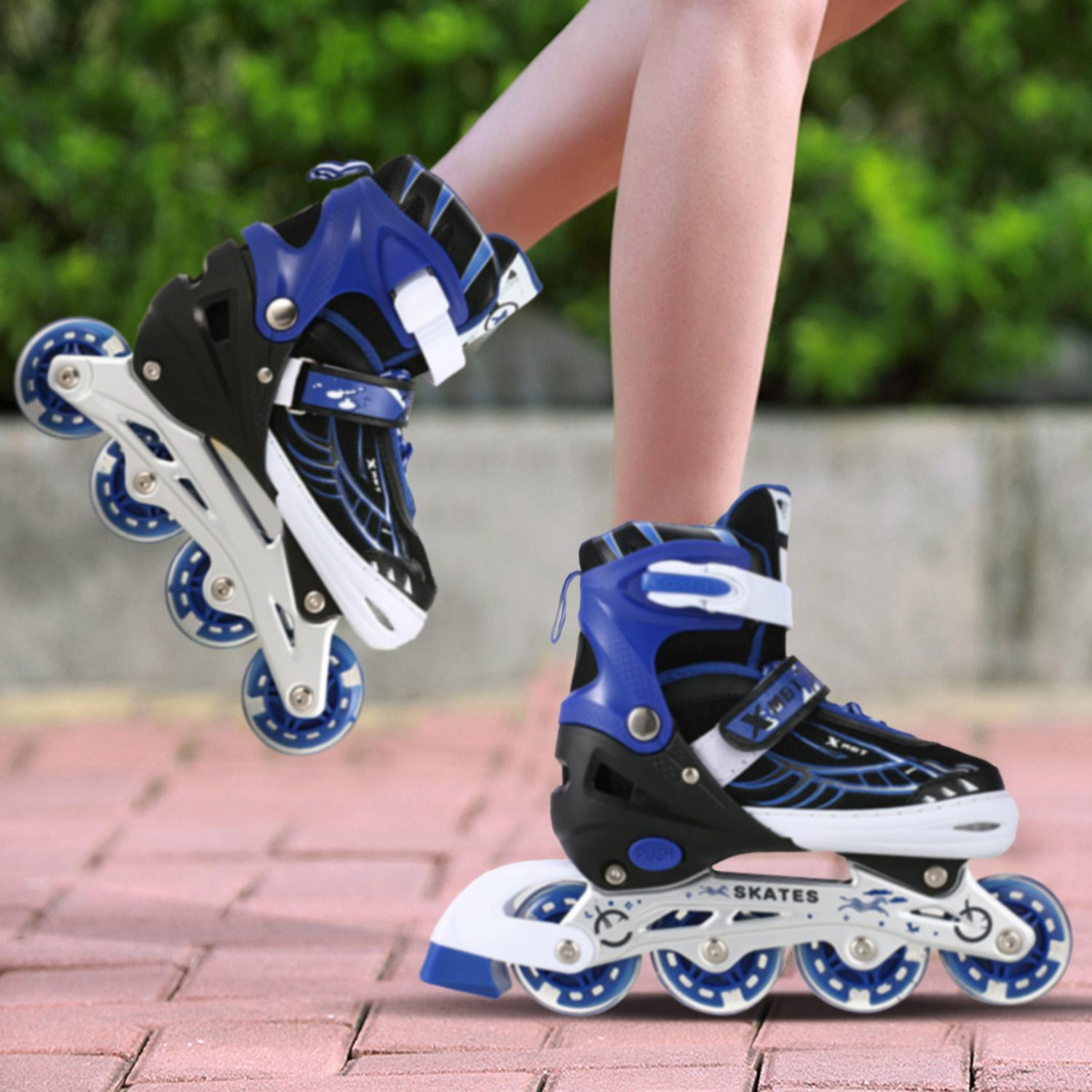 Adjustable Inline Skates for Kids, Rollerblades Girls Boys with Light up Wheels