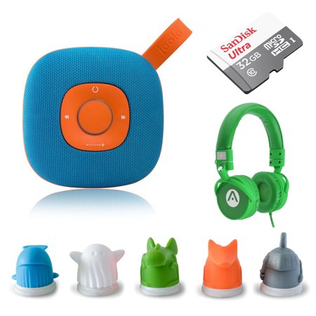 Jooki WIFI Streaming Speaker - Simply the Best Music Player for Kids Screen-Free Music & Stories with ToyTouch Technology, A7 Headphones and 32GB microSD - Halloween Music For Kids Stream