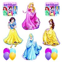The ULTIMATE 14pc Disney Princess BIRTHDAY PARTY Balloons Decorations Supplies