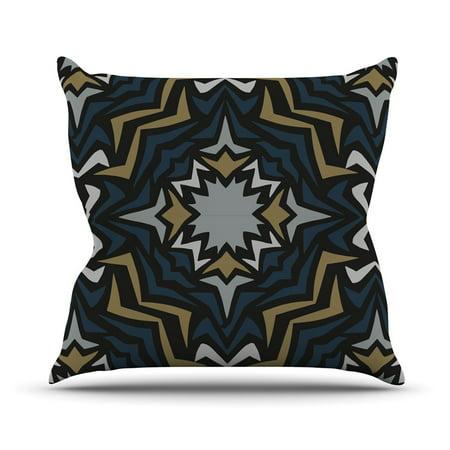 Kess Inhouse Miranda Mol Winter Fractals Outdoor Throw Pillow 18X18   New