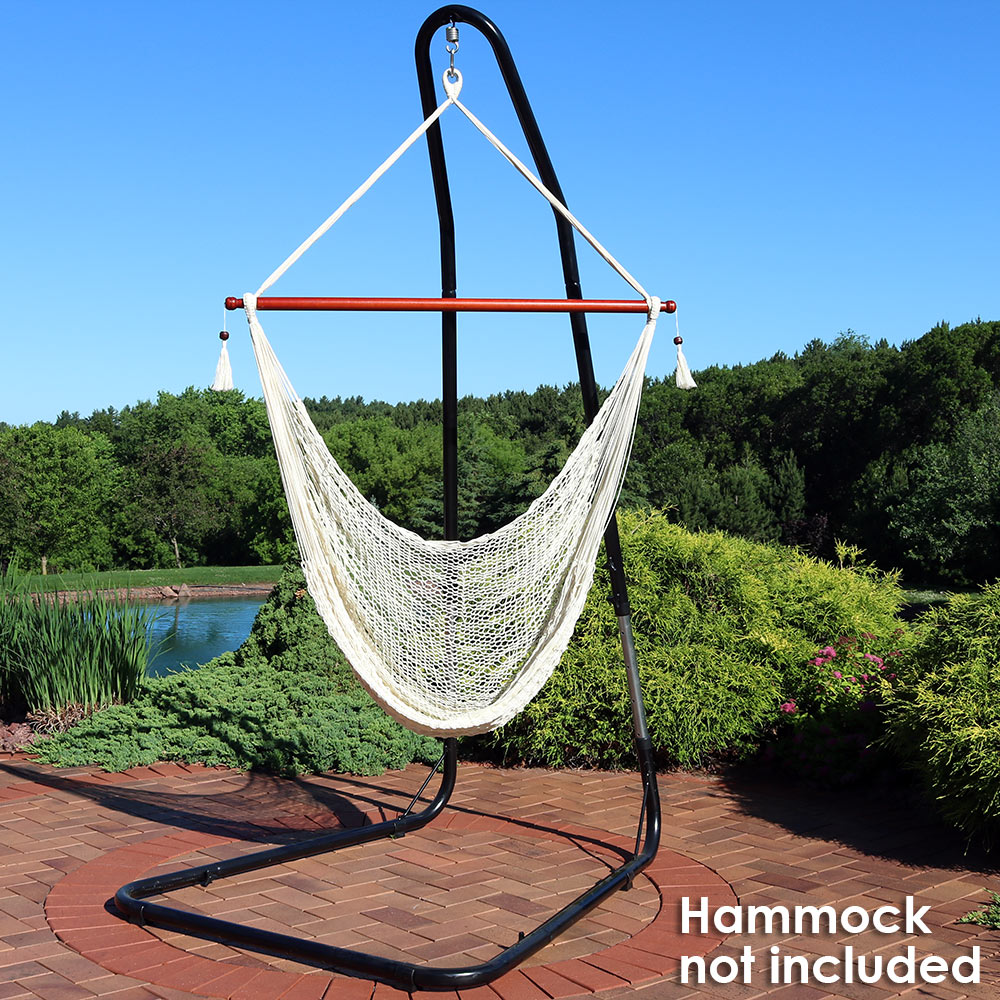 Sunnydaze Adjustable Heavy-Duty Hammock Chair Stand for Hammock Chairs/Swings, Adjusts up to 93 Inches Tall, 330 Pound Capacity