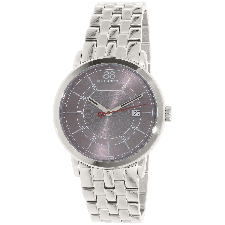 Image of 88 Rue Du Rhone Men's 87WA140025 Silver Stainless-Steel Swiss Quartz Dress Watch