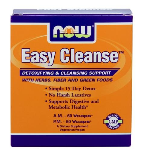 Easy Cleanse, Detox & Cleansing System Now Foods 2 Bottles/1 Box VCaps