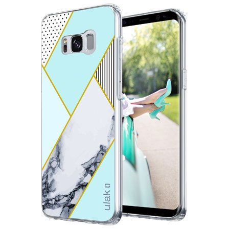 cheaper 3edae bf04f Galaxy S8 Plus Case,ULAK [CLEAR SLIM ] Marble Hybrid Bumper Case Scratch  Resistan Cover Skin for Samsung Galaxy S8+ Plus Case - Mint Marble