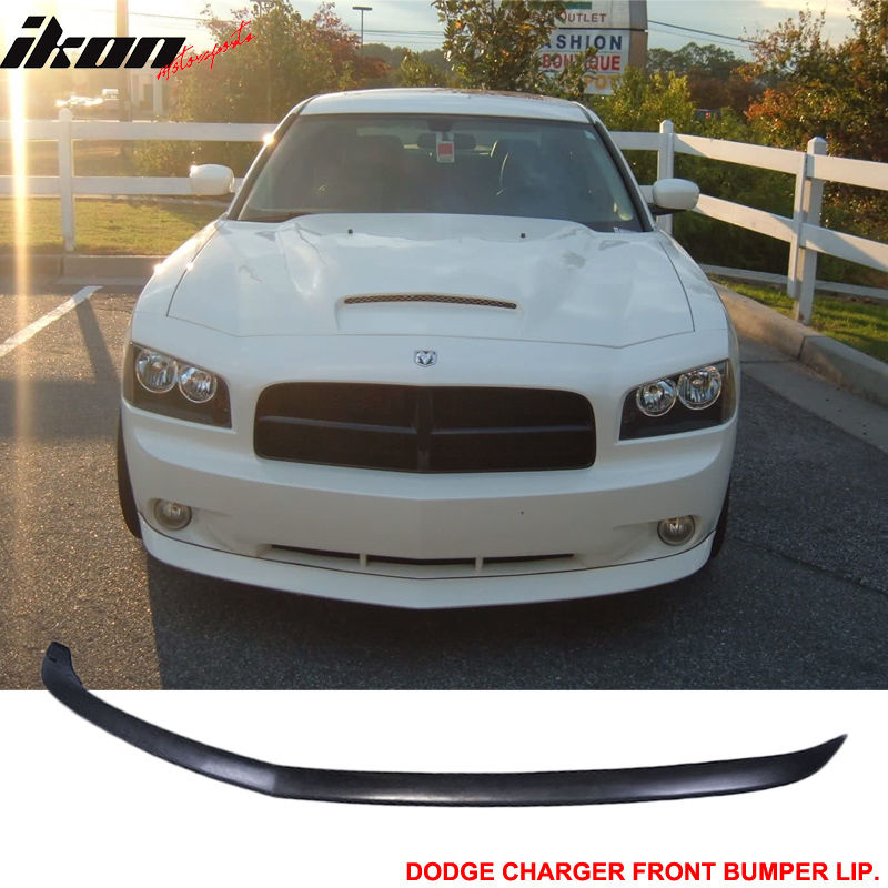 Fits 05-10 Dodge Charger OE Style Front Bumper Lip Unpainted - Urethane