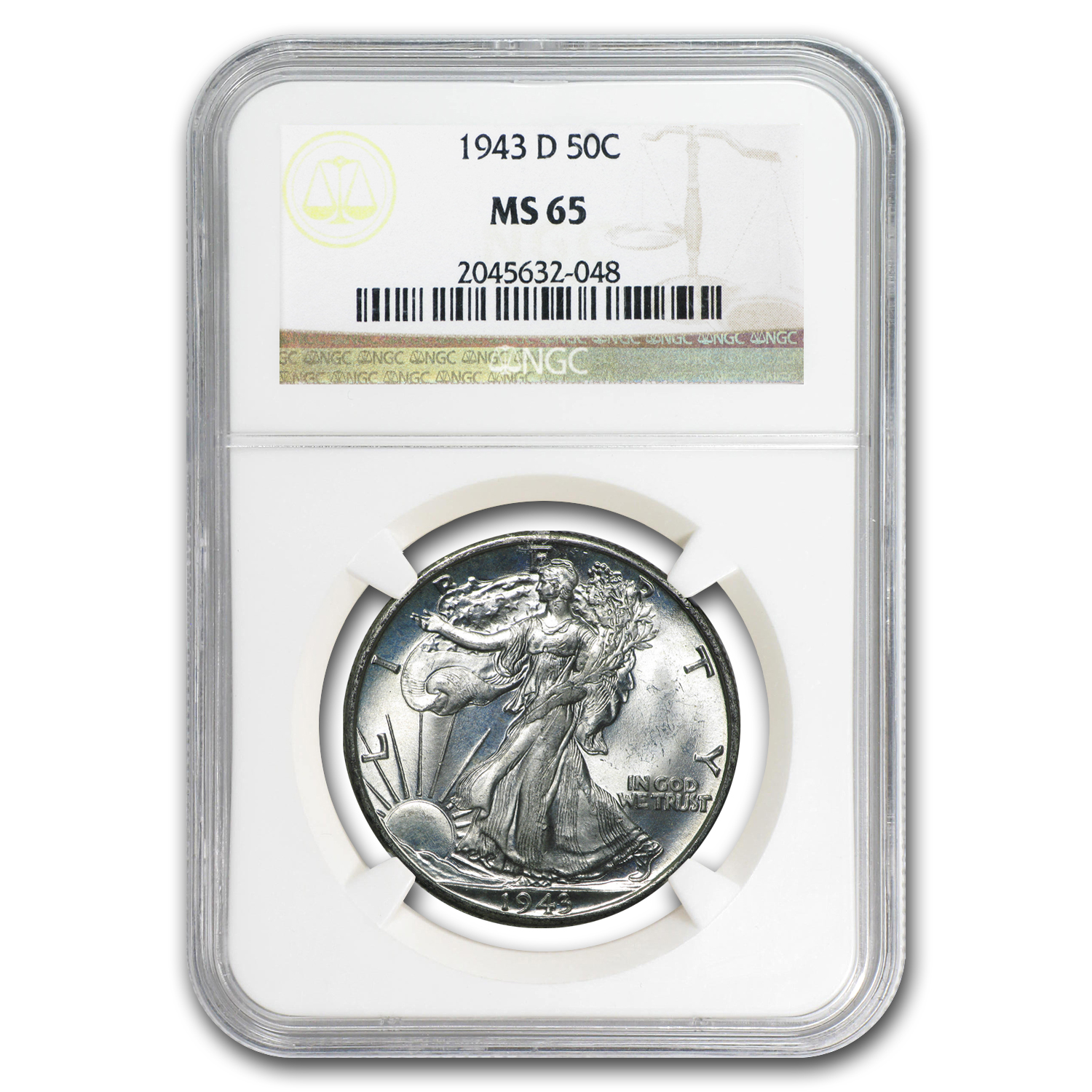 1943-D Walking Liberty Half Dollar MS-65 NGC