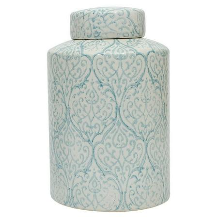 3R Studios Blue and White Decorative Ginger Jar ()
