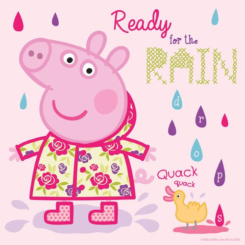 "Marmont Hill ""Ready for the Rain"" Peppa Pig Painting Print on Canvas"