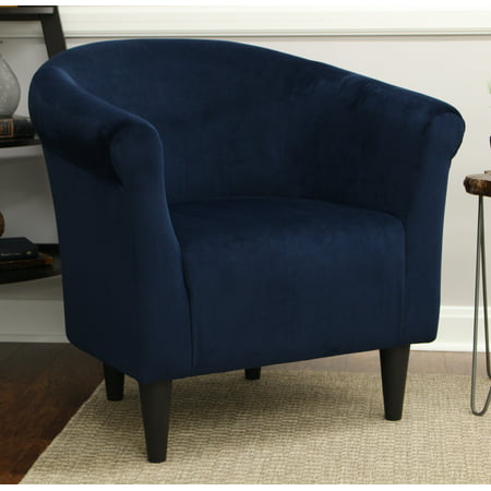 Mainstays Microfiber Bucket Accent Chair Blue Walmart Com