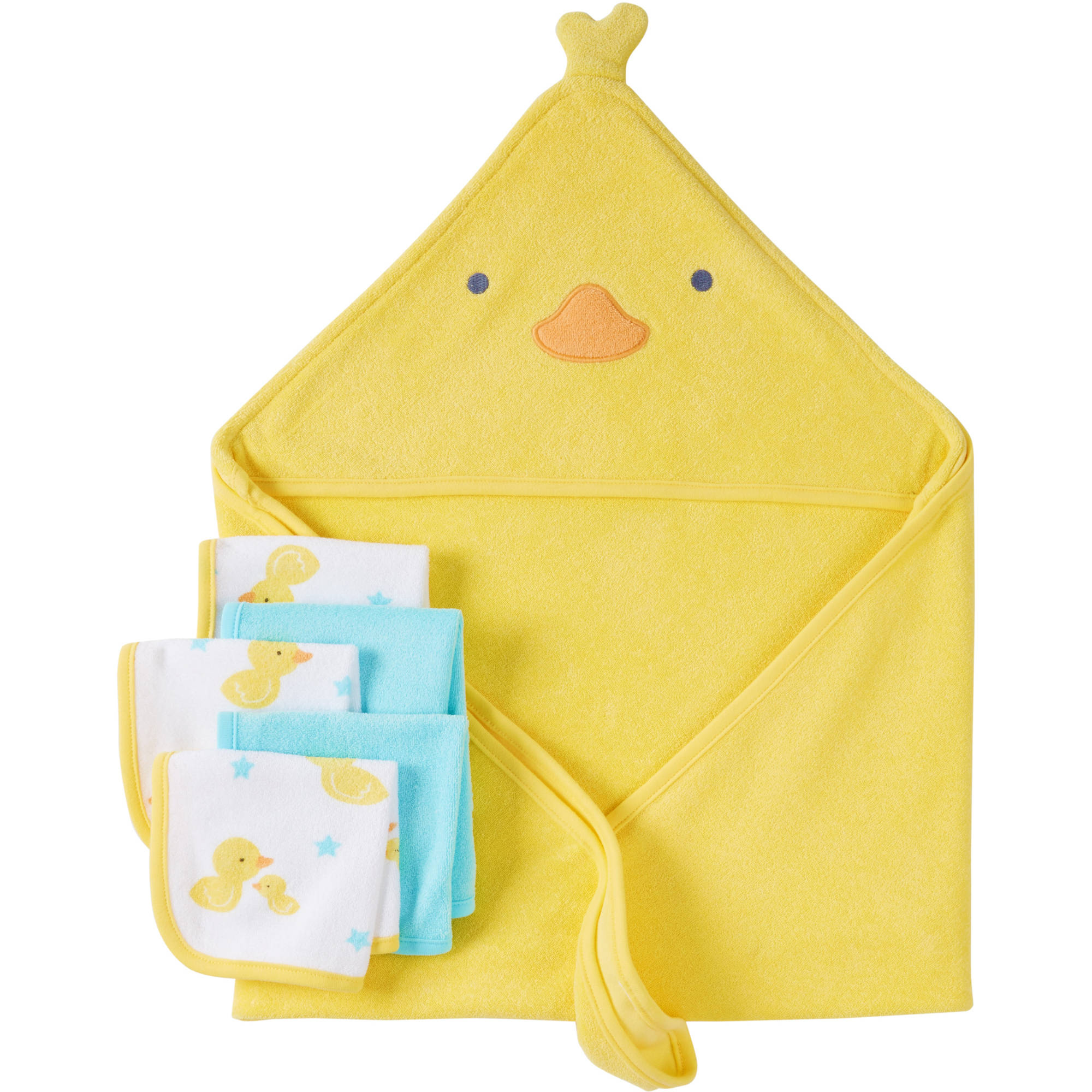 Child Of Mine by Carter's Newborn Baby Boy or Girl Unisex Towel And Washcloth 6-Piece Set by