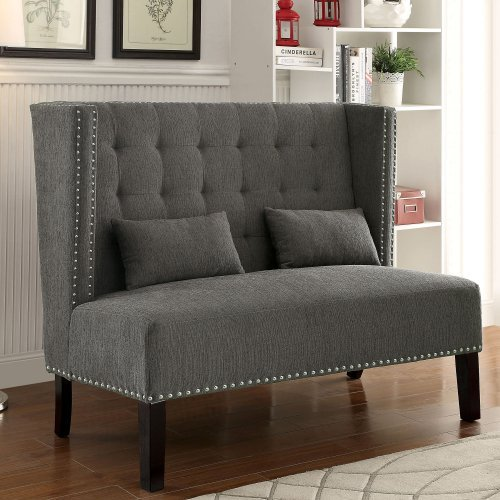 Furniture of America Arvada Wingback Loveseat Chair