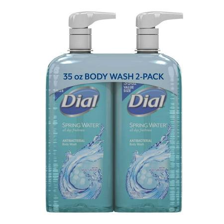 Dial Antibacterial Body Wash, Spring Water (35 fl. oz., 2 pk.) Dial Spring Body Wash