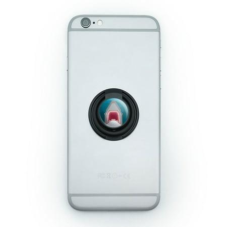 Geometric Shark Blue Mobile Phone Ring Holder Stand - Shark Rings