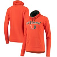 Miami Hurricanes Women's Funnel Neck Pullover Sweatshirt - Orange