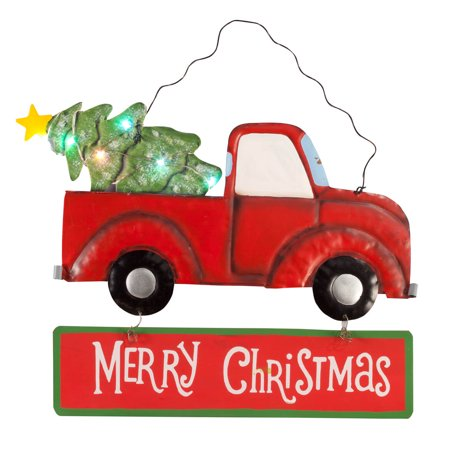 Lighted Merry Christmas Truck Sign by Maple Lane Creations