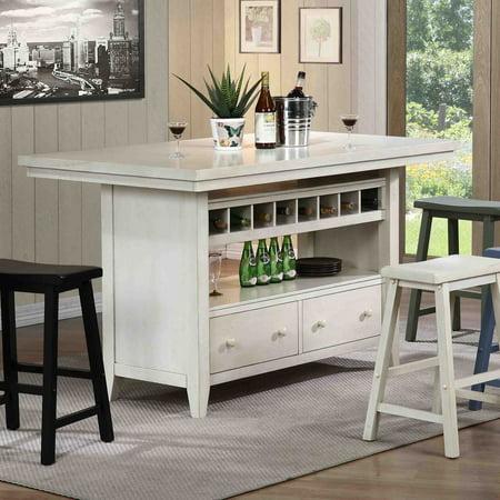 ECI Rustic Kitchen Island - Antique White