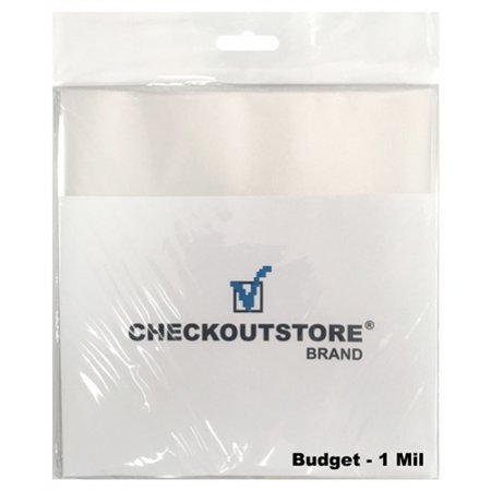 CheckOutStore 100 COS Clear Plastic OPP Outer Sleeves for 7