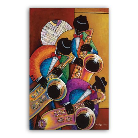 Image of African American Expressions Jazz Painting Print