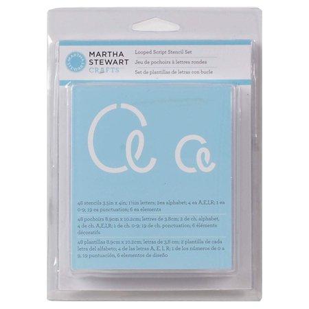 - Martha Stewart Crafts Alphabet Stencil, 32273 Looped Script