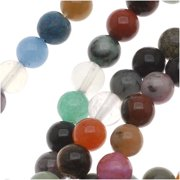 Gemstone Bead Mix 6mm Round Beads /15.5 Inch Strand