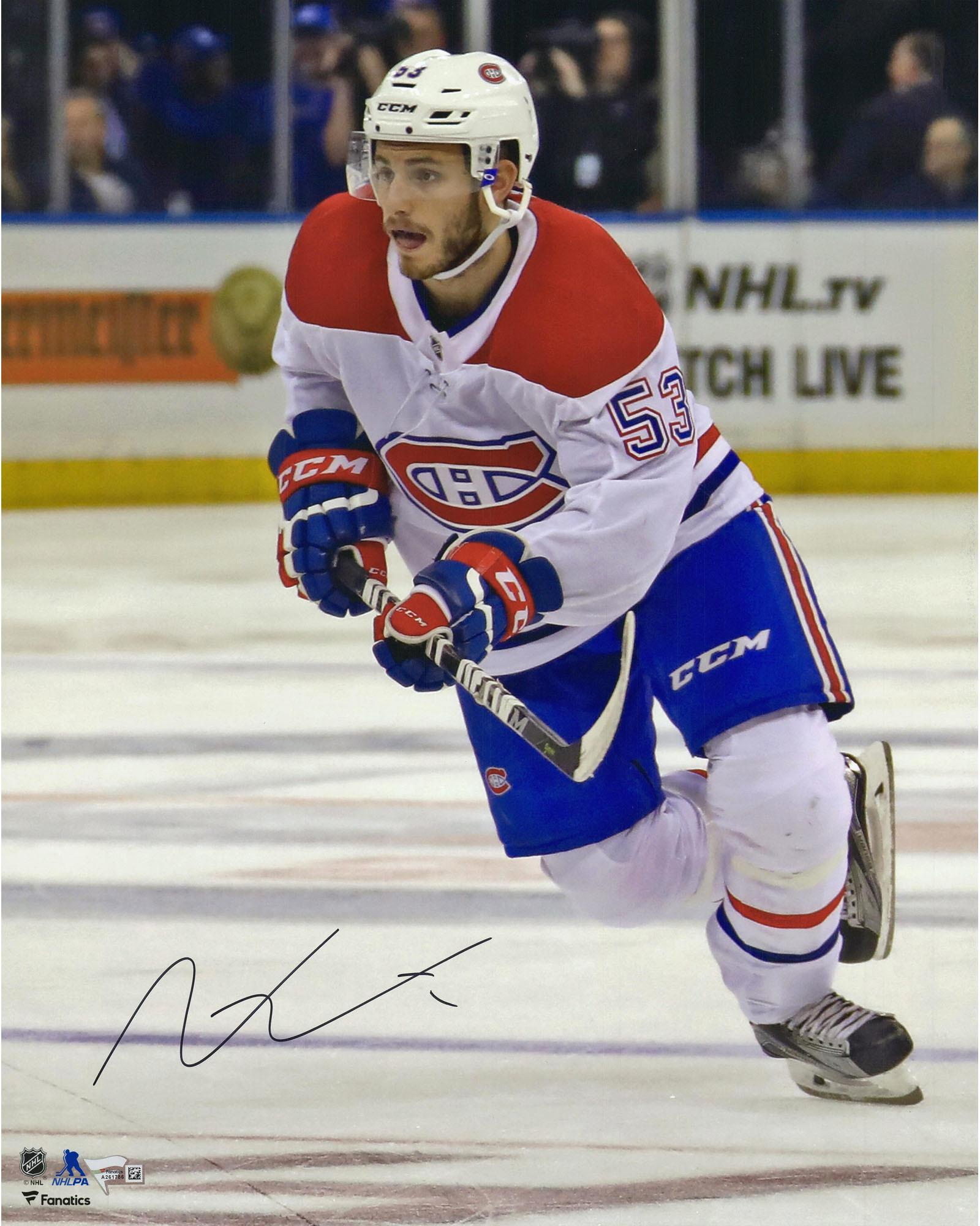 "Victor Mete Montreal Canadiens Autographed 16"" x 20"" White Jersey Skating Photograph Fanatics Authentic... by Fanatics Authentic"