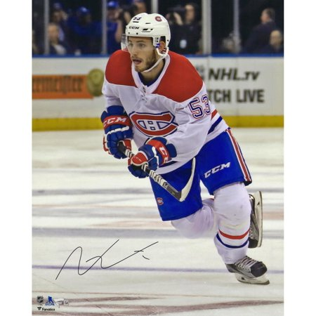 Victor Mete Montreal Canadiens Autographed 16   X 20   White Jersey Skating Photograph   Fanatics Authentic Certified