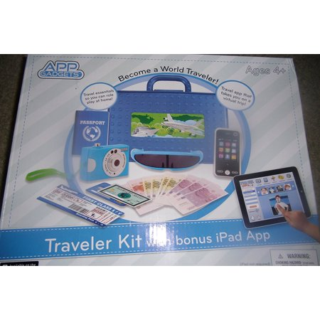 App Gadgets BlueTraveler Kit with Bonus iPad App, Traveler Kit Includes: Sunglasses, (4) Boarding Passes, Suitcase, (2) Credit Cards, Currency, Cell Phone,.., By (Best Cad App For Ipad)