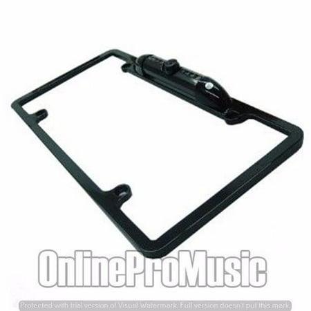 Built In Camera - Absolute CAM1500B Universal License Plate Frame with Built in CMOS Waterproof IR Camera (Black)