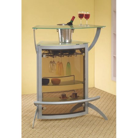 Coaster Company Metal And Glass Bar Table, - Gold Gloss Bag