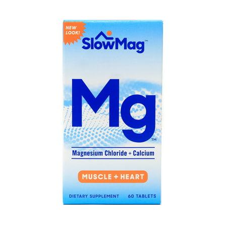 (2 pack) SlowMag Magnesium Chloride + Calcium Tablets, 60 Ct (Magnesium Chloride Tablets)