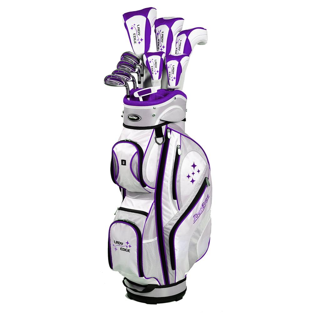 Tour Edge Golf Lady Edge Complete Set (17-Piece, PLUM, WO...