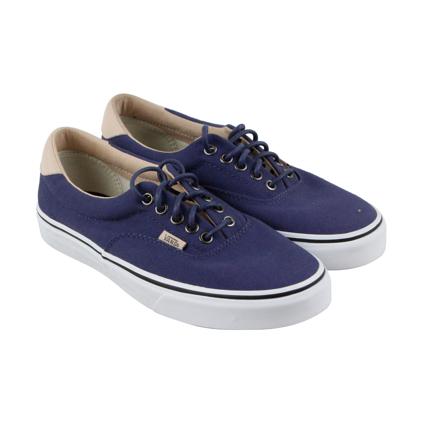 Vans Unisex Era 59 (Veggie Tan) Skate Shoe (8 B(M) US Women/ 6.5 D(M) US Men, (Veggie Tan) Crown Blue/ T)