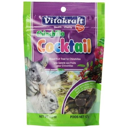 Vitakraft Chinchilla Cocktail Dry Small Animal Treat, 4.5 Oz