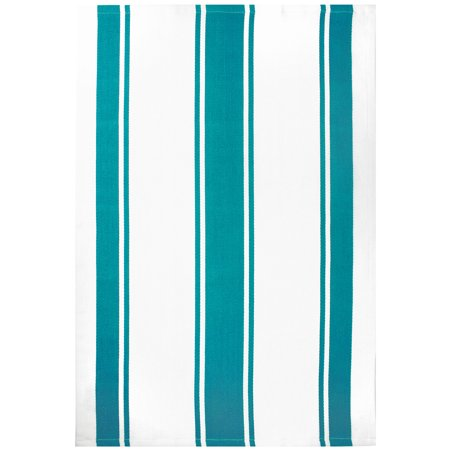 MU Kitchen Classic Cotton Stripe Towel, Surf - Mu Kitchen Cotton