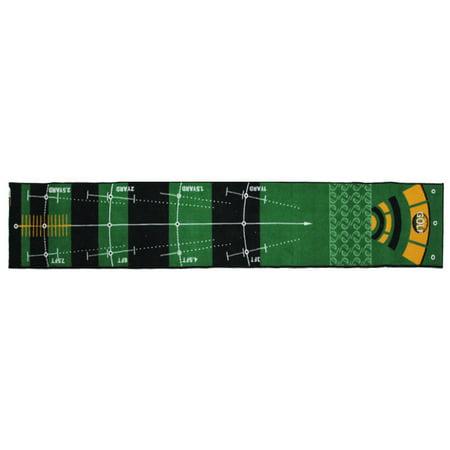 Golf Practice Putting Mat Golf Putting Trainer Anti-Slip No Odor Indoor 197x118in - image 6 de 7
