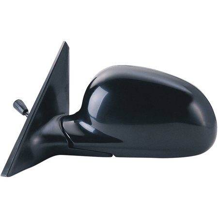 63510H - Fit System Driver Side Mirror for 92-95 Honda Civic Sedan, black, foldaway, Manual Remote Driver Side Manual Remote