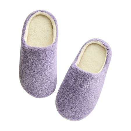 Nicesee Women Men Winter Warm Fleece Anti-Slip Slippers Indoor Shoes