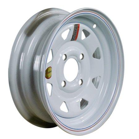 Arcwheel White Spoke Steel Trailer Wheel - 12
