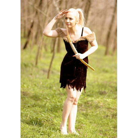 Canvas Print Beauty Arc Blonde Girl Forest Wild Warrior Stretched Canvas 10 x 14](Blonde Warrior)