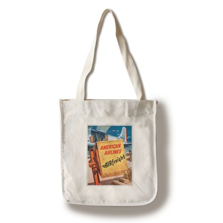 American Airlines - Airfreight Vintage Poster (artist: Pursell) USA (100% Cotton Tote Bag - Reusable)