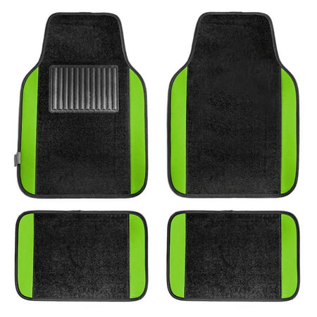 Fh Group Full Set Premium Carpet Floor Mats  Green