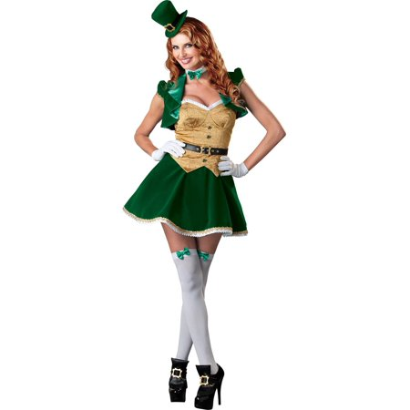 St. Patrick's Sexy Lucky Lass Costume Dress Adult](St Louis Costume Stores)