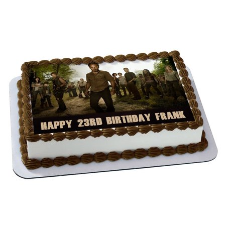 The Walking Dead Quarter Sheet Edible Photo Birthday Cake Topper Personalized 1 4 Sheetnbsp