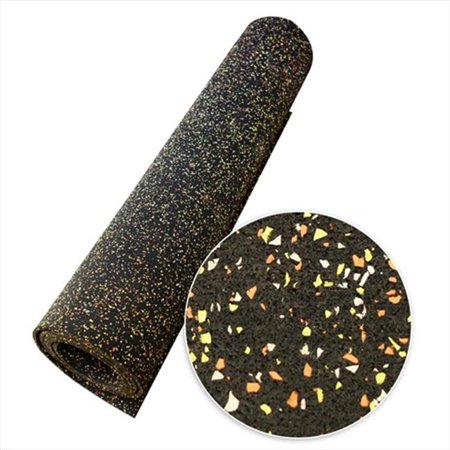 Corn Roll (Elephant Bark Recycled Rubber Flooring Rolls - Candy Corn, 300 x 48 x 0.19)