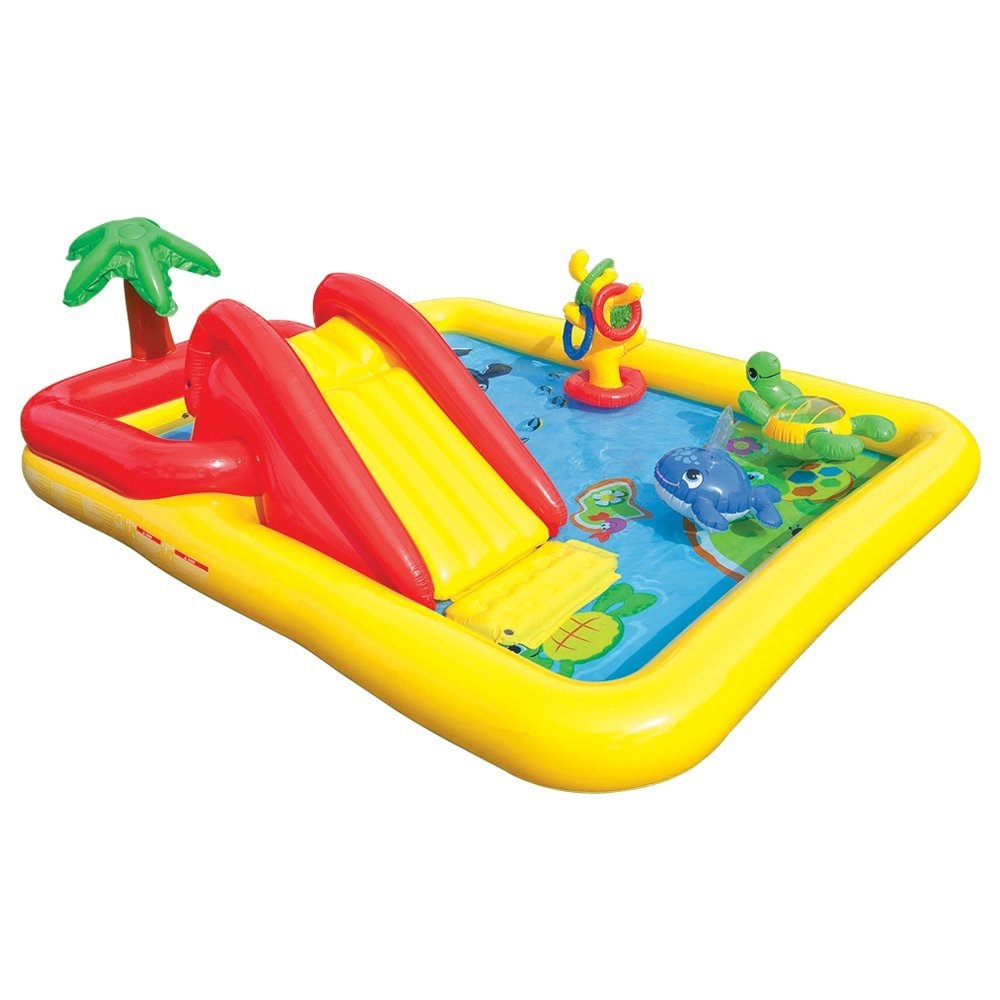 "Intex Recreation Ocean Inflatable Play Center, 100"" X 77""..."