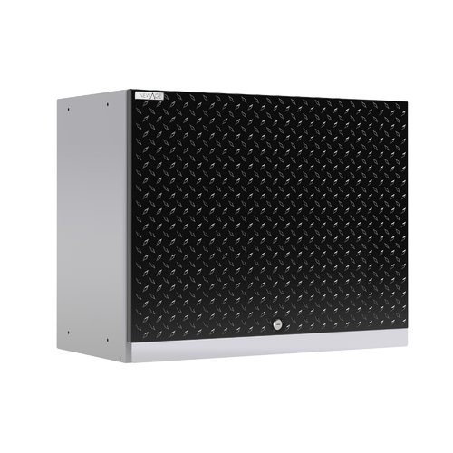 NewAge Products Performance Plus 2.0 Diamond Plate Black Wall Cabinet