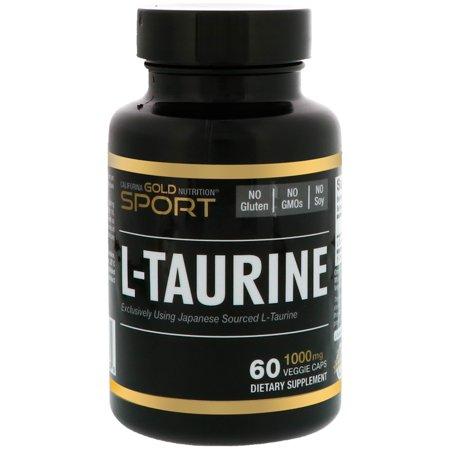 California Gold Nutrition, CGN, Sport, L-Taurine, 1000 mg, 60 Veggie Caps