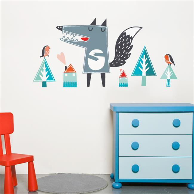 PICCOLO by ADzif P0337AJV5 Oscar the Wolf  Wall Decal Color Print